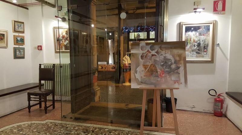 Emidio Bernecoli, noto pittore adriese, protagonistra della mostra in Sala Cordella ad Adria.